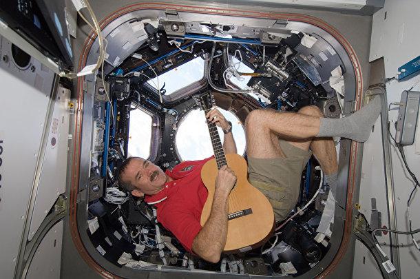 Астронавт канадского космического агентства Крис Хэдфилд