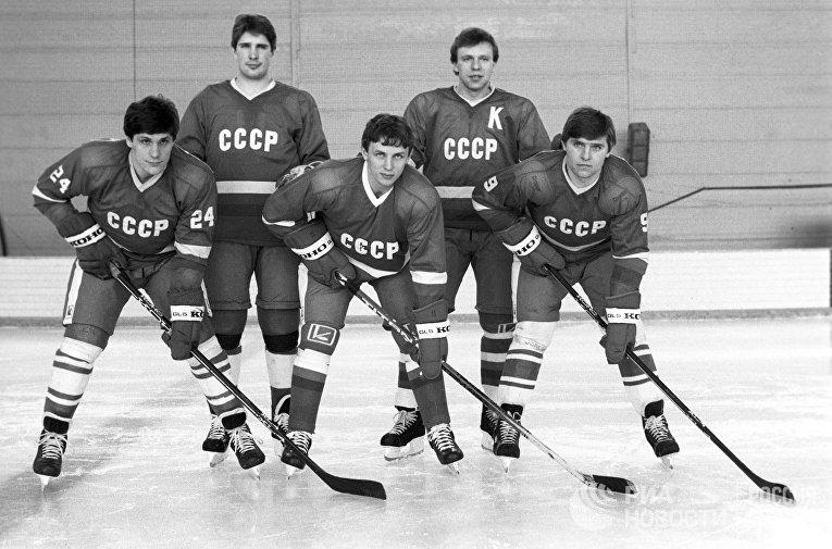 Первая пятерка сборной СССР по хоккею