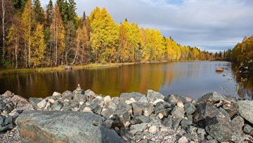 Протока Кислый Пудас в Беломорском районе Республики Карелия