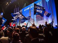 Предвыборный митинг в поддержку Марин Ле Пен в Лилле