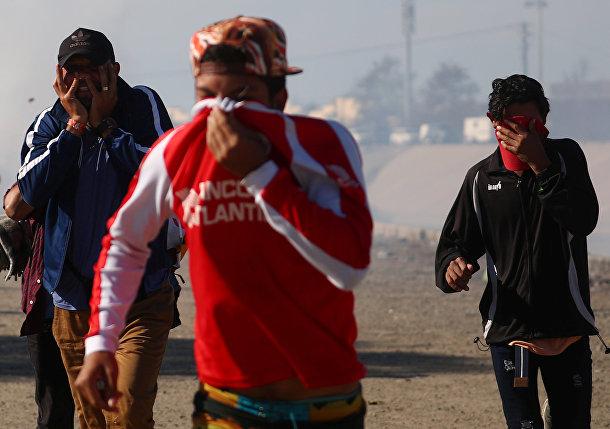 Мигранты в мексиканском пограничном городе Тихуане