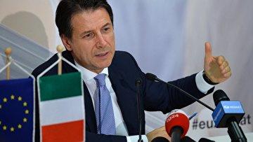 Премьер-министр Италии Джузеппе Конте