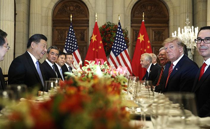 Встреча президента США Дональда Трампа и председателя КНР Си Цзиньпиня на саммите G20 в Аргентине