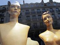 Манекены в витрине одного из магазинов Парижа