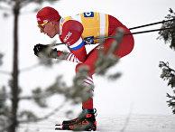 Лыжник Александр Большунов на Кубке мира - 2018