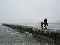 Пирс в Азовском море, Мариуполь