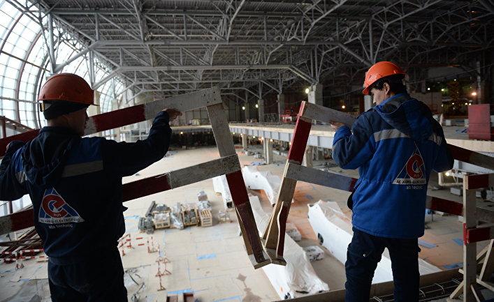 """Строительство нового сегмента терминала аэропорта """"Домодедово"""""""