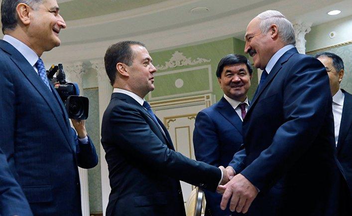 Премьер-министр РФ Д. Медведев на Евразийском межправительственном совете в Минске