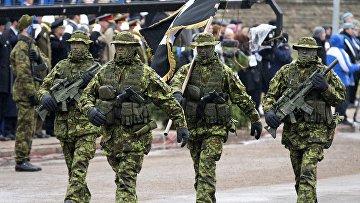 Парад эстонских войск в Нарве, Эстония