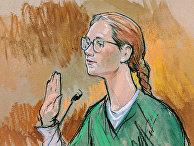 Мария Бутина во время судебного заседания