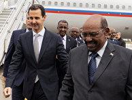 Президент Сирии Башар Асад и президент Судана Омар аль-Башир в Дамаске