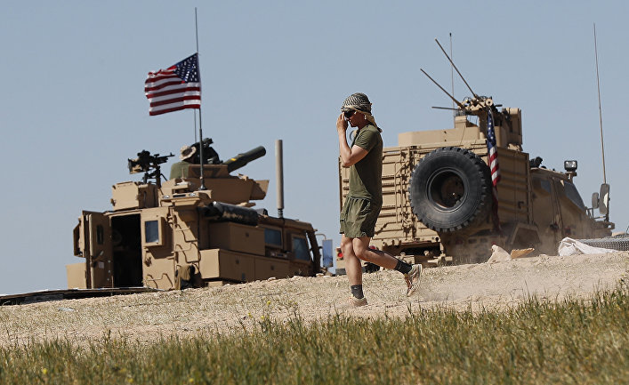 Американский солдат в Манбидже, Сирия