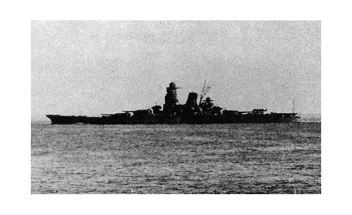 Линкор «Мусаси» японского императорского флота в 1944 году