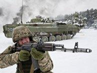 Военные учения украинской армии в Черниговской области