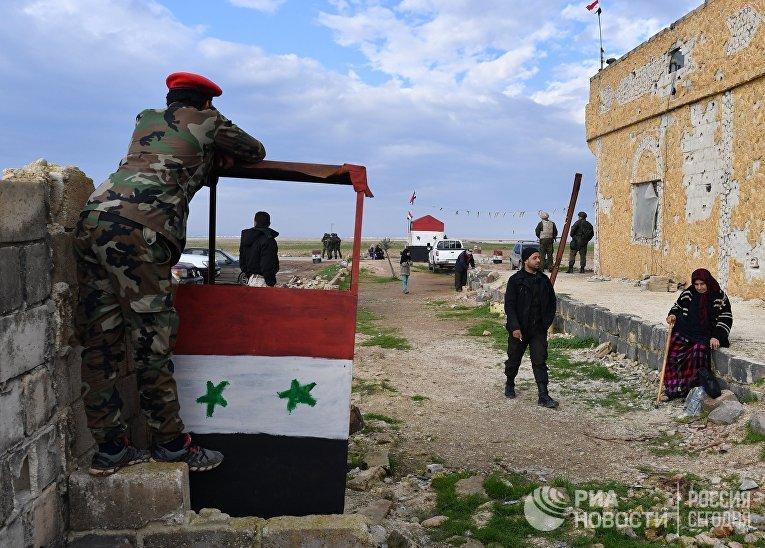 Гуманитарный коридор Абу-Духур в провинции Идлиб