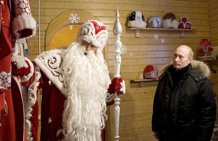 Путин в резиденции Деда Мороза в Великом Устюге