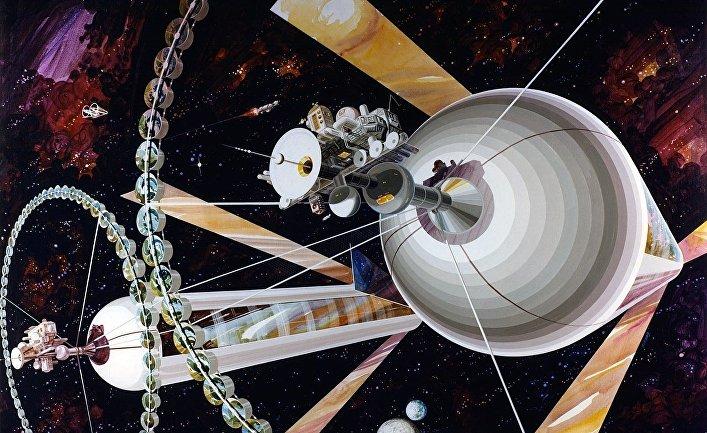 Космическая станция «Цилиндр О'Нилла», также известная как «Остров III»