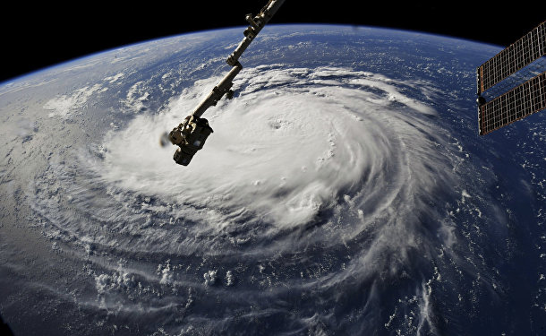 Вид на ураган Флоренция с Международной космической станции 10 сентября