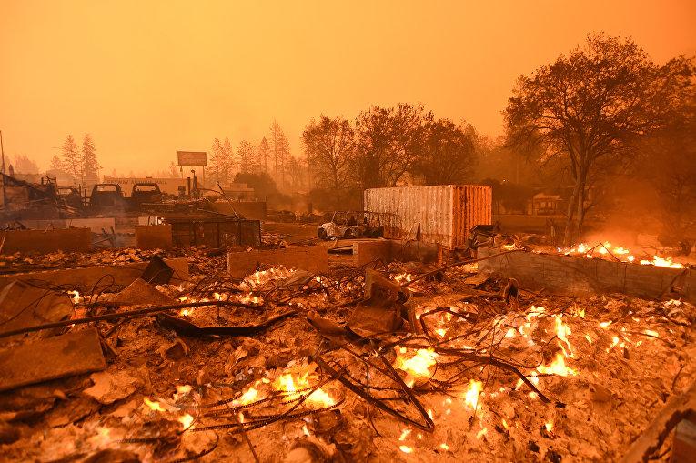 Пожар в Парадиз, Калифорния