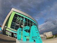 Конгресс-холл в столице Башкирии Уфе накануне саммитов ШОС и БРИКС