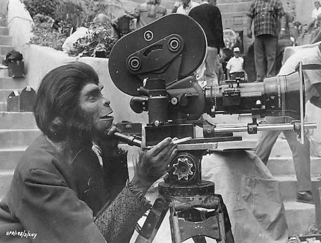 На съемках фильма «Планета обезьян»
