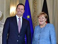 Канцлер Германии Ангела Меркель и посол США в Германии Ричард Гренелл