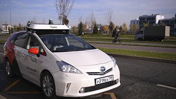 Беспилотное такси компании «Яндекс» натерритории технопарка «Сколково»