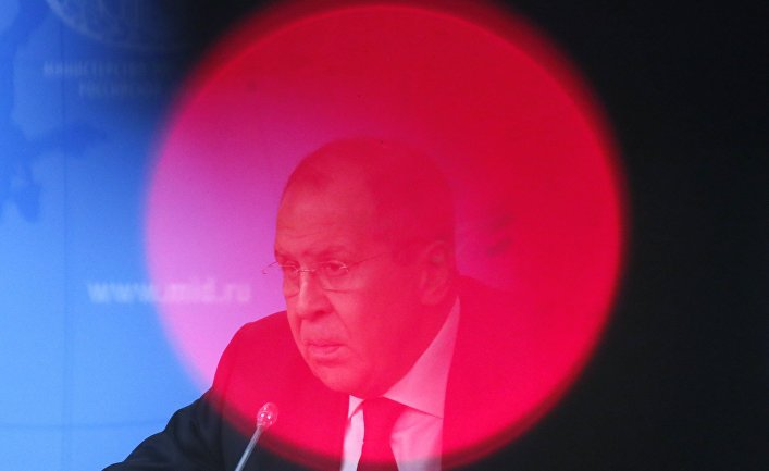 Глава МИД России Сергей Лавров на ежегодной большой пресс-конференции