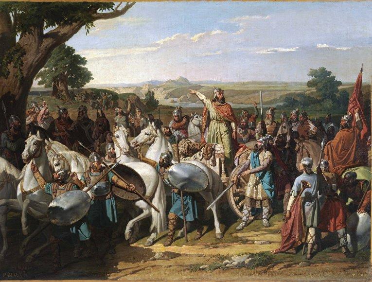 Король Дон Родриго в битве при Гуадалете, 1871 год