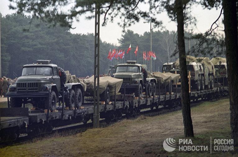 Начало вывода советских войск с территории Польши