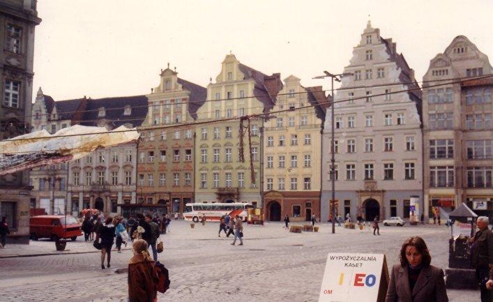 Рыночная площадь города Легница, Польша