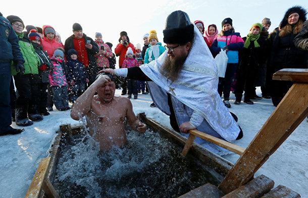Православный священник под Красноярском