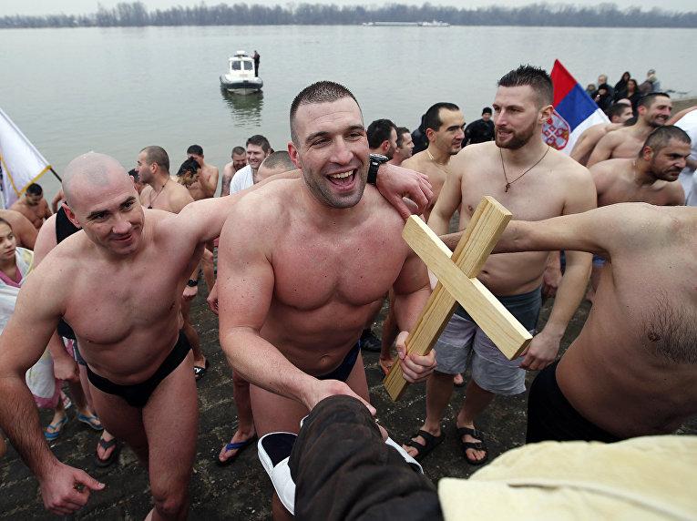 Крещенские купания в Белграде