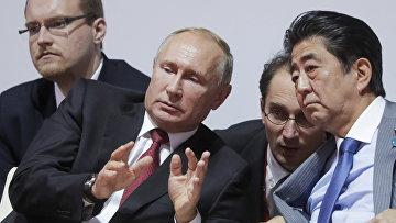 Президент РФ Владимир Путин и премьер-министр Японии Синдзо Абэ