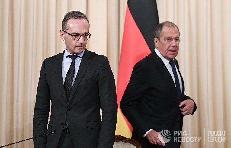Встреча глав МИД РФ и Германии С. Лаврова и Х. Мааса