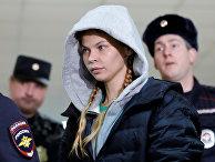 Анастасия Вашукевич (Настя Рыбка) на заседании Нагатинского суда