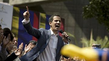 Лидер оппозиции Венесуэлы Хуан Гуайдово