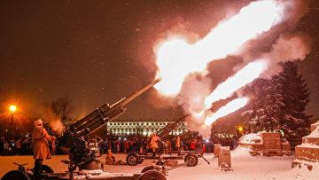 Салют по случаю 75-летия снятия блокады Ленинграда