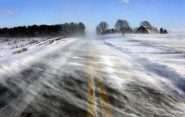 Снежные заносы в штате Пенсильвания