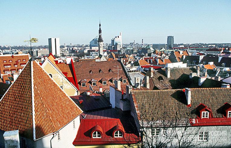 Вид на город Таллин