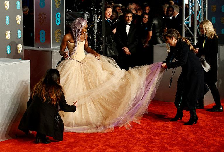 Синтия Эриво прибывает на премию BAFTA в Лондоне