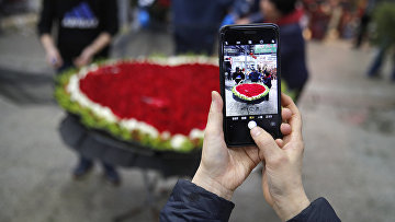 Сердце в День Святого Валентина в Пекине
