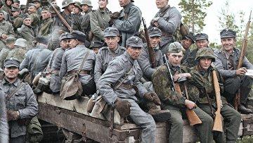 22 августа 1941. Финские солдаты и немецкие эсэсовцы в Карелии