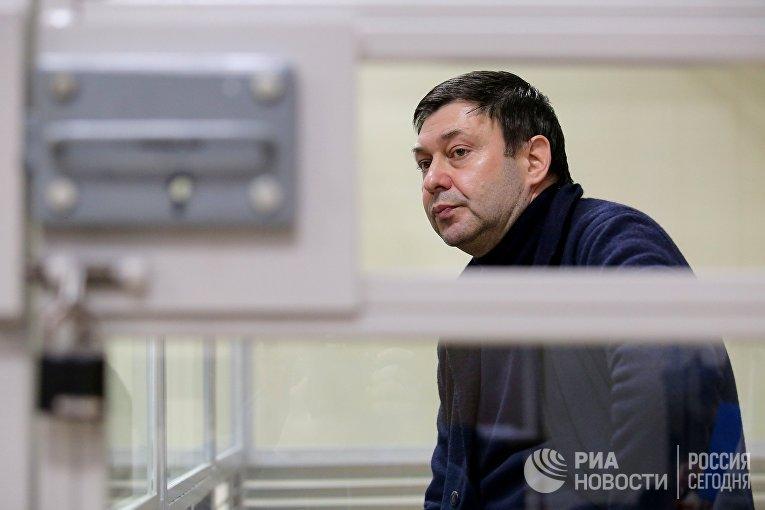 Рассмотрение жалобы на продление ареста журналиста К. Вышинского