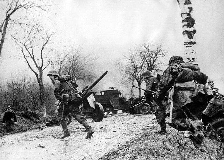 Немецкие войска в Бельгии 27 декабря 1944 года