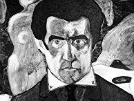 "Репродукция Казимира Малевича ""Автопортрет"""