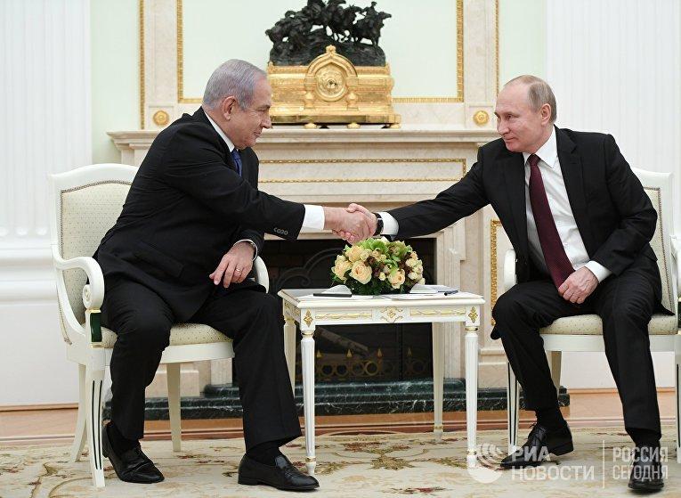 Президент РФ В. Путин встретился с премьер-министром Израиля Б. Нетаньяху