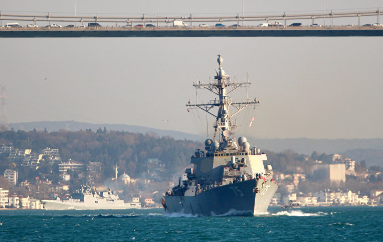Эсминец американских ВМС «Дональд Кук»