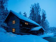 Домик в национальном парке Оуланка, Финляндия