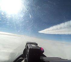 Перехват самолета-разведчика США глазами летчика Су-27